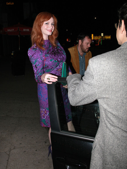 More Pics of Christina Hendricks Cocktail Dress (1 of 6) - Christina Hendricks Lookbook - StyleBistro