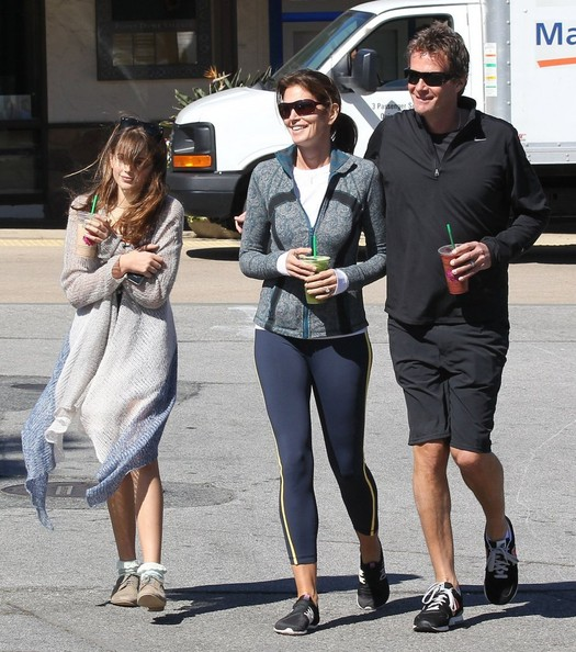 Cindy Crawford And Her Family Go For A Bike Ride