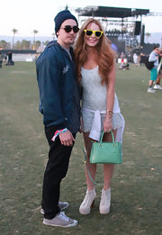 Lindsay Lohan carried this mint tote around Coachella.