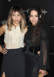 Lisa Bonet wore her lengthy dreadlocks half up while attending a premiere of 'Conan the Barbarian.'