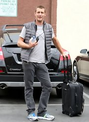 Ingo Rademacher chose a gray puffer vest for his casual look while heading into dance rehearsals for 'Dancing With the Stars.'