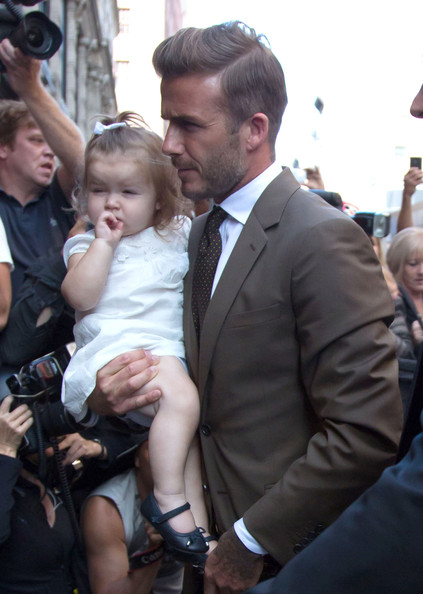 Victoria, David And Harper Out For Lunch In New York