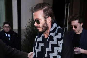 David Beckham Harper Beckham Victoria Beckham Heads to a Fashion Show in NYC