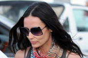 Actress Demi Moore out doing some shopping before returning to a yacht in Saint Barthlemy, France.