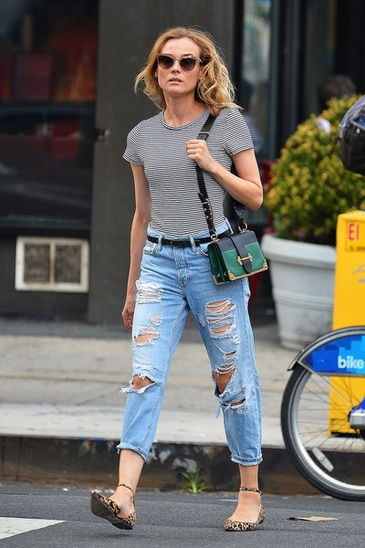 Diane Kruger Ripped Jeans
