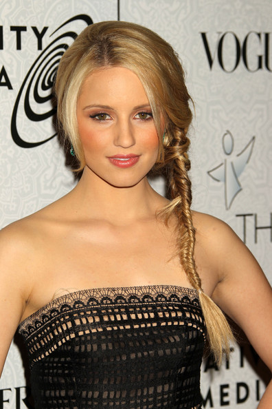 Dianna Agron Long Braided Hairstyle
