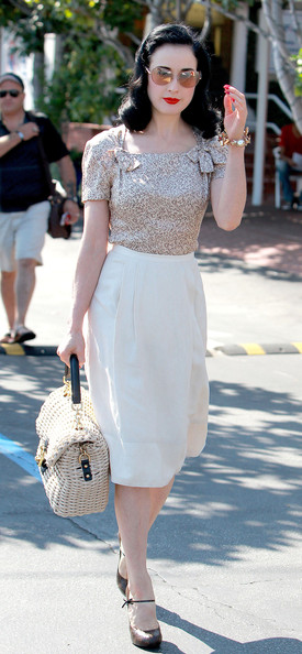 Dita Von Teese Leaving Fred Segal In West Hollywood