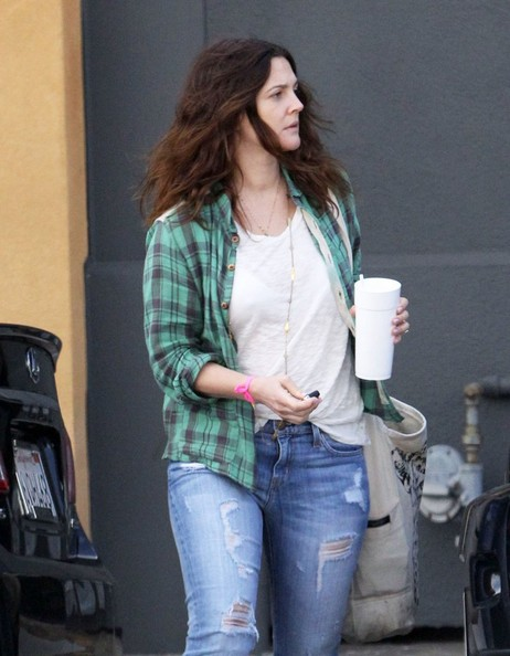 More Pics of Drew Barrymore Ripped Jeans (2 of 11) - Ripped Jeans Lookbook - StyleBistro