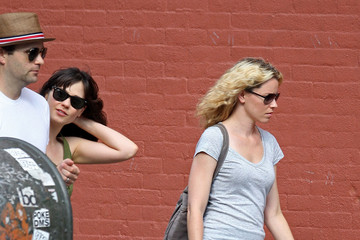 Elizabeth Banks & Zooey Deschanel Leaving Lunch In New York City