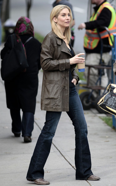 Elizabeth Mitchell Leather Coat