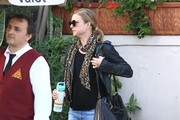 Emily VanCamp Leather Hobo Bag