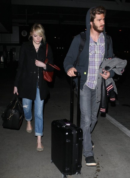 Emma Stone and Andrew Garfiend Touch Down at LAX
