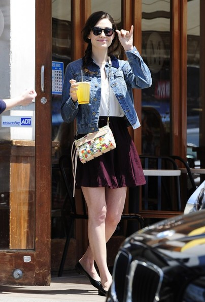 Emmy Rossum Printed Shoulder Bag