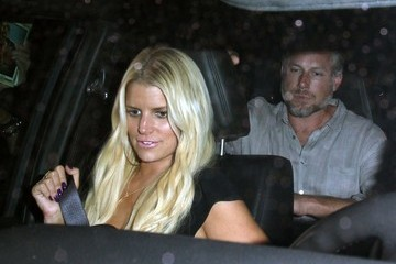 Eric Johnson Jessica Simpson Celebrities Dine Out at Craig's Restaurant