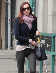 Eva Amurri Martino wore this heart print scarf while out and about in NY.