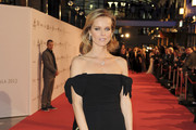 Eva Herzigova Off-the-Shoulder Dress