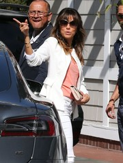 Eva Longoria stepped out for brunch wearing chic butterfly sunglasses by Tom Ford.