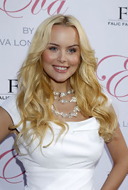 Helena Mattsson showed off her blonde curls while attending the Eva Longoria fragrance launch.