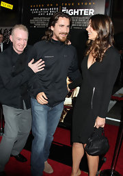Sibi Blazic accessorized with a vintage-y framed black leather purse when she attended the LA premiere of 'The Fighter.'