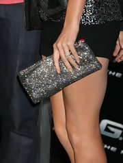 "Heidi Montag lit up the ""G.I. Joe"" red carpet with this sparkling clutch. Leave it up to Heidi to wear something flashy and attention grabbing."