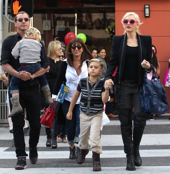 Gwen Stefani And Family Out Shopping In Beverly Hills