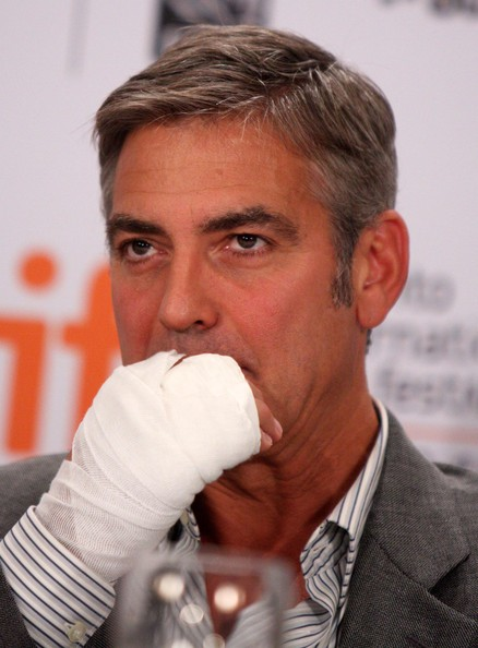 More Pics of George Clooney Short Side Part (1 of 22) - Short Hairstyles Lookbook - StyleBistro