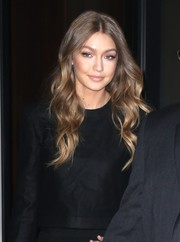 Gigi Hadid sported gorgeous center-parted waves while out and about in New York City.