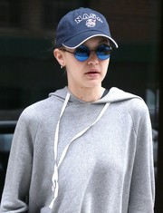 Gigi Hadid went geek-chic with this NASA baseball cap while out and about in New York City.