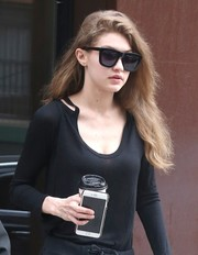Gigi Hadid looked striking in her angular shades while out and about in New York City.