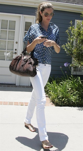 Gisele Bundchen Button Down Shirt