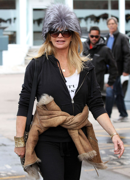 Goldie Hawn Fur Hat