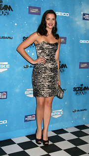 Jamie Alexander arrived at the Scream Awards in a classic pair of peep-toe heels.