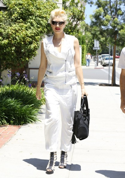 Gwen Stefani Loose Blouse [white,fashion model,footwear,fashion,jeans,shoe,haute couture,fashion design,gwen stefani wears white in beverly hills,pants,cargo pants,shoe,shorts,gwen stefani,mom,outfit,hair,skin care clinic,fashion,shirt,pants,clothing,blouse,jeans,shorts,capri pants,cargo pants,shoe]