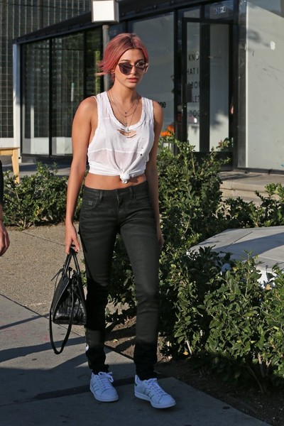 Hailey Baldwin Leather Sneakers
