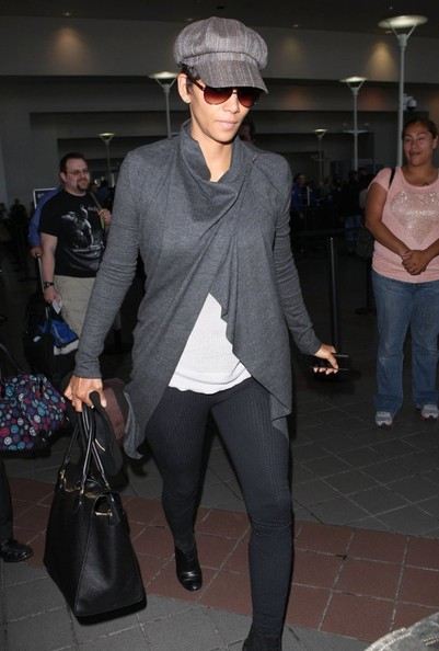 Halle Berry Newsboy Cap