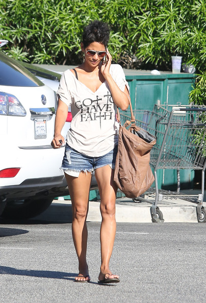 Halle Berry V-Neck Tee