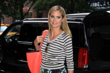 Heidi Klum Gets Flirty With Florals