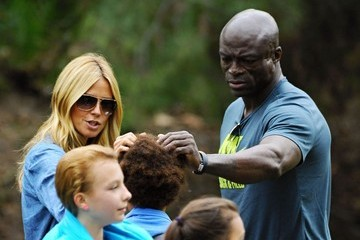Heidi Klum Seal Heidi Klum & Seal Watch Their Kids Play Soccer