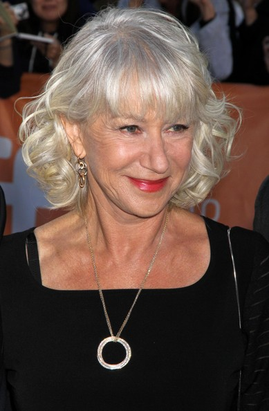 Helen Mirren Curled Out Bob