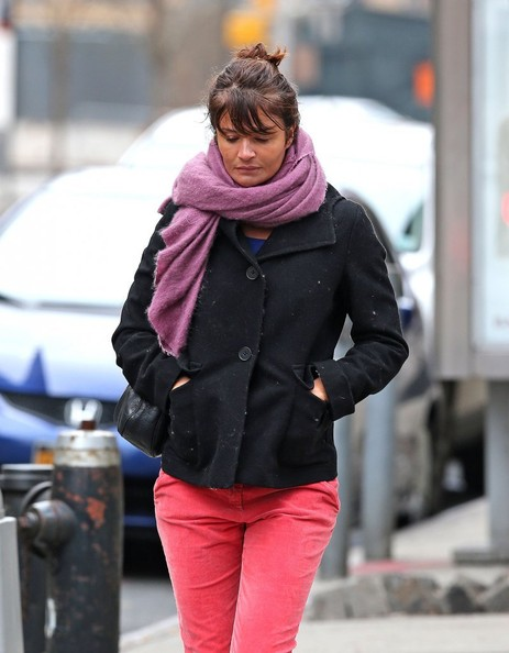 Helena Christensen Out For A Stroll In NYC