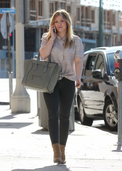 Hilary Duff Heads To A Lunch Meeting