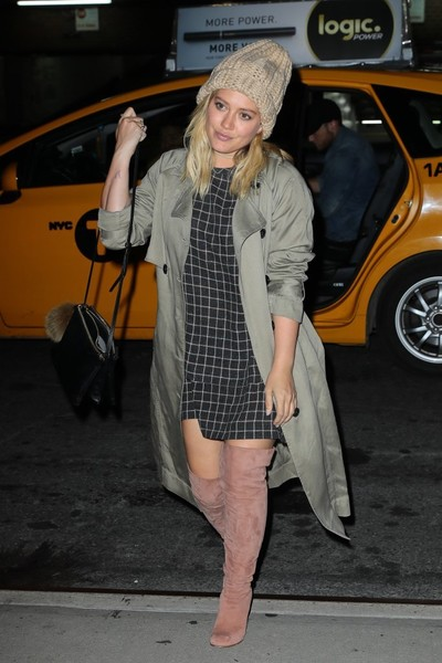 Hilary Duff Trenchcoat