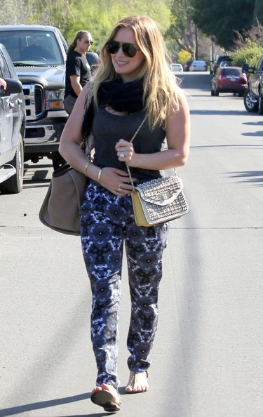 Hilary Duff Print Pants