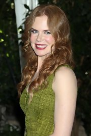 Nicole Kidman showed off her signature red curls while attending an LA luncheon.