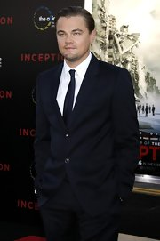 Leonardo looked dashing in a navy suit which he paired with a matching tie.