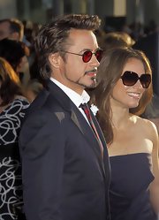 Susan Downey took style notes from her hubby and wore a pair of butterfly sunnies on the red carpet of 'Iron Man 2.'