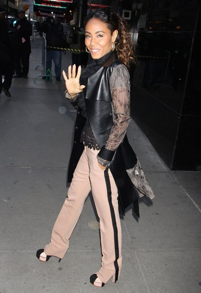 More Pics of Jada Pinkett Smith Skinny Pants (1 of 12) - Skinny Pants Lookbook - StyleBistro