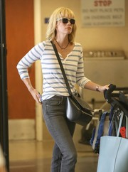 January Jones was spotted at LAX wearing a pair of sporty shades.