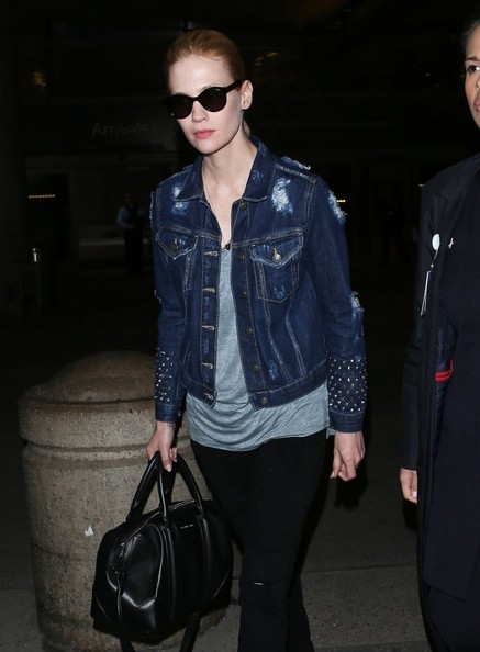 More Pics of January Jones Denim Jacket (2 of 15) - January Jones Lookbook - StyleBistro