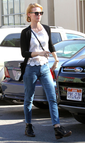 January Jones Motorcycle Boots